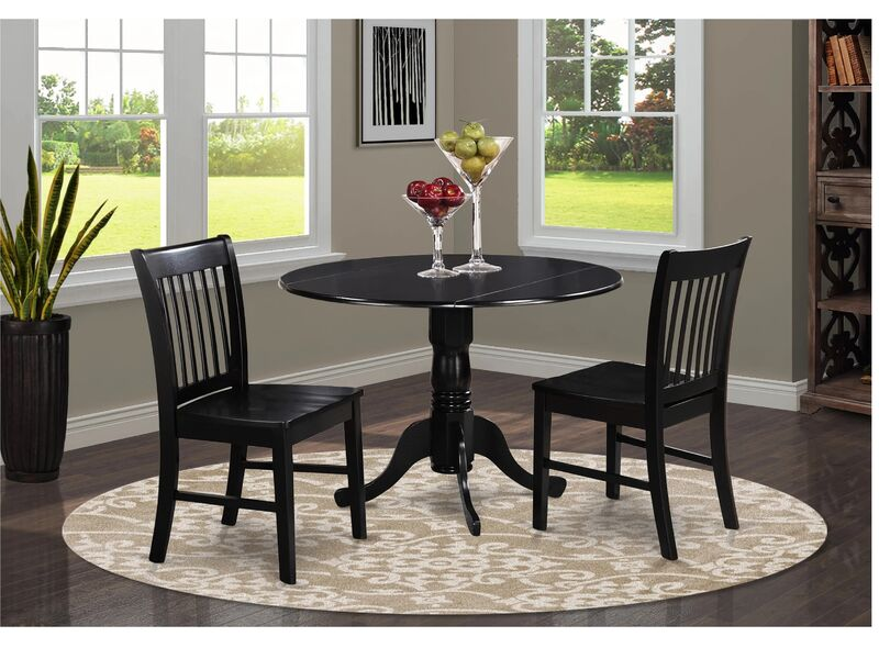 Kitchen Table Plus 2 Dinette Chairs, Small Black Kitchen Table And 2 Chairs