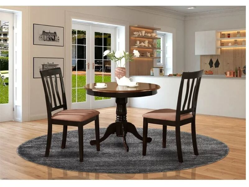 Dining Room Chairs 3 Piece, Small Black Kitchen Table And 2 Chairs